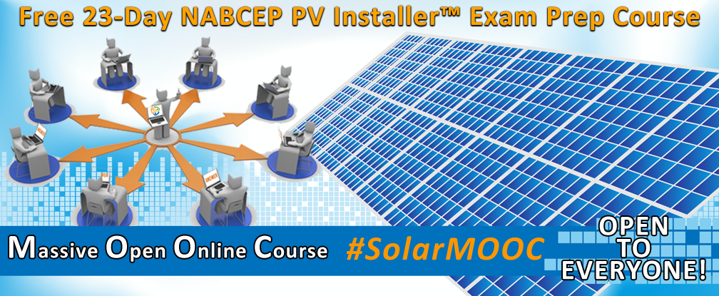 free nabcep pv installer exam prep course